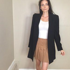 Carlisle Black Long Single Button Blazer Jacket